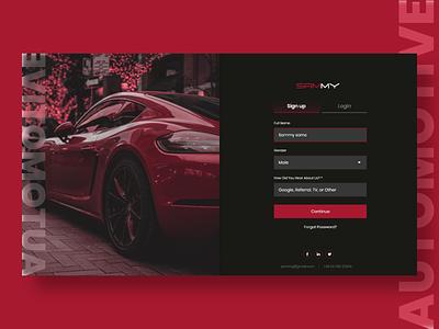Signup UI web ui ux branding webdesign uiux ui  ux uidesign designer design