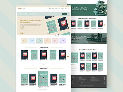 Bookies Landing Page Concept web ux typography uiux webdesign ui  ux uidesign designer design branding