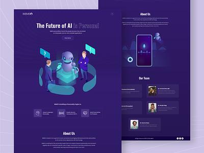 AI Website Concept illustration ui branding webdesign uiux ui  ux uidesign designer design