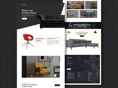 Furniture Shop UI ui branding webdesign uiux ui  ux uidesign designer design