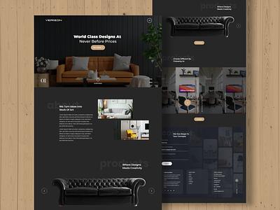 Furniture Shop Dark UI Concept graphic design motion graphics branding webdesign uiux ui  ux uidesign designer design