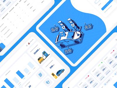 E-Vehicle Management Concept logo illustration uiux graphic design ui branding webdesign ui  ux uidesign designer design