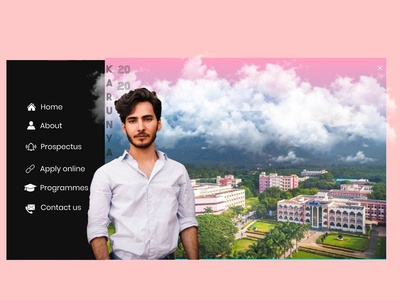 admission site navbar idea