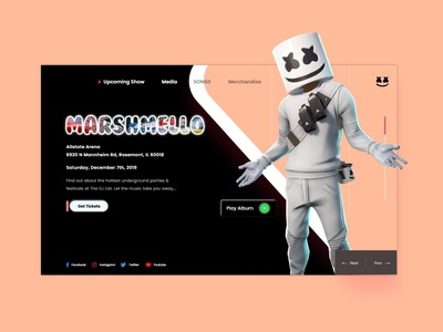 Marshmello concrert design