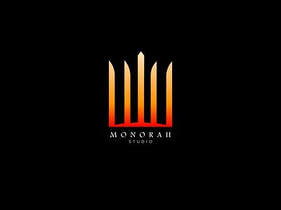 Monorah Studios logog design desgin brand branding design brand identity brand design logo design monorah studios logo logotype logolab logogram logodesign typography branding illustration logo designer design