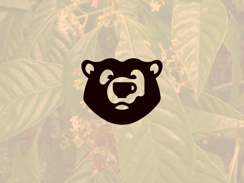 Bear Coffee Logo branding branding concept logo animals animal logo logo design rejected logo brand design black bear coffee branding coffee brand coffee logo coffee cup coffee bear bear logo