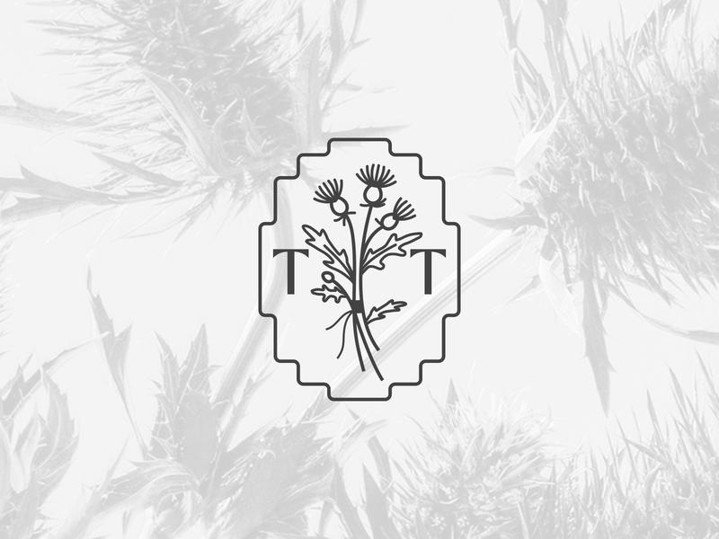 Threads & Thistles flowers branding illustraion black  white blackandwhite simple elegant femme feminine gamergirl gaming gamer boutique logo boutique botanical logo botanical thistles logo design