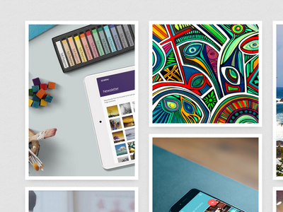 New Portfolio - In progress frames presentation personal grid portfolio
