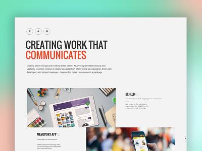 Creative Portfolio 2015 template one page design responsive flat minimal portfolio