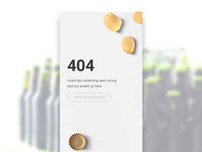Brewster 404 fun minimal local app screen mobile app beer