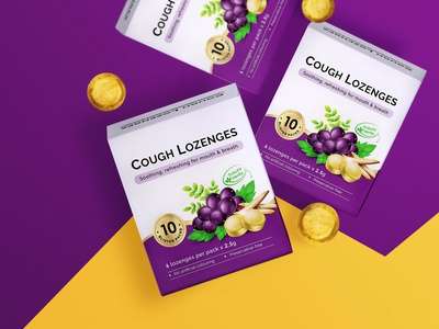 Cough Lozenges Packaging  | 包 装 设 计 cough lozenges medicine illustration packaging design