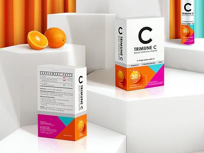 TRIMUNE C Dietary Supplement Packaging      包 装 设 计 supplement vitamin c packaging design graphic design