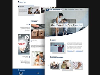 webpsd-perelson weiner llp mockup illustration layout design brnading bradning barnding website concept website design webpagedesign webpsd