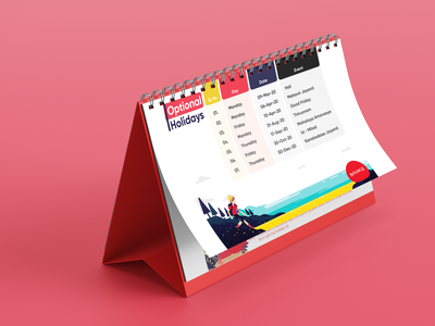 Desk Calendar Mockup calendar design mockup design calendar mockups type vector logo illustration illustrator design branding ui
