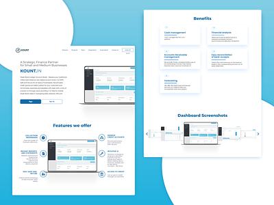Financial accounting home page homepage design accounting webdesign financial landingpage screen login form dashboard ui ux illustrator design ui