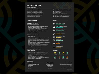 Resume design cv resume typography illustrator branding clean ui redesign talentacquition hiring recruitment opportunities jobsearch ux design ui design minamal resume design