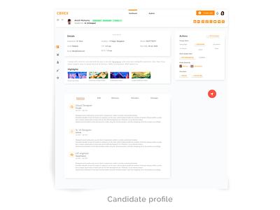 Recruiter's / Employer's dashboard design hiring recruitmentsoftware branding xd ui kit xd design ux minimal webapp webapp design calender dashboard app dashboard design uxdesign uiux dashboad employer recruiter