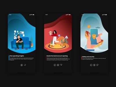 Onboarding screens for a banking app hdfc illustration screen onboarding finance banking uiux uxdesign uidesign