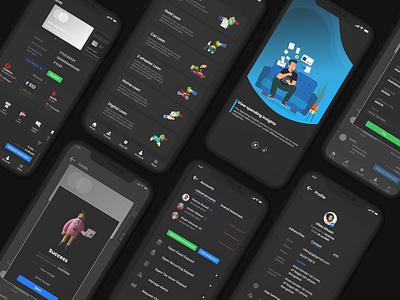 HDFC banking app redesign loan accounts illustration finance banking darkmode mobileapp uxdesign uidesign