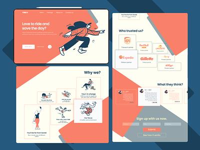 Landing page design Dribble 1 ui