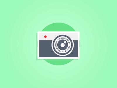 Camera Icon Flat Style