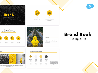 Brand Book Template illustration design slidebean pitch deck design presentation template presentation design