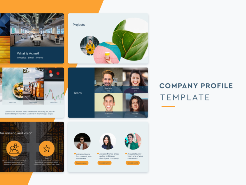 Company Profile Template slidebean business template business design presentation design presentation template profile company profile company
