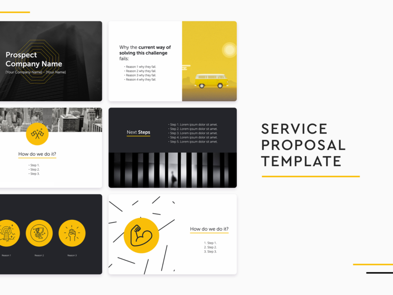 Service Proposal Template sales templates service proposal service proposal template service proposal sales template design slidebean presentation design presentation