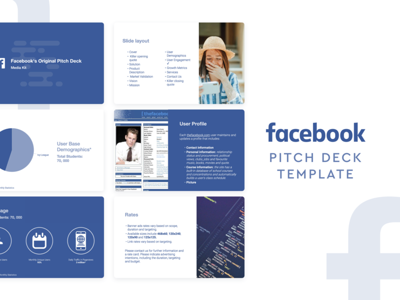Facebook Pitch Deck Template by Slidebean on Dribbble