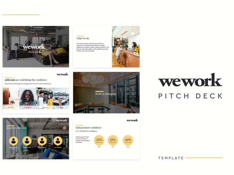 Wework Pitch Deck pitch deck design pitch deck presentation investor business startup template design template presentation template design presentation software presentation design presentation pitch deck deck pitchdeck pitch slidebean wework