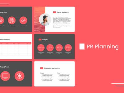 PR Planning Template pdf ppt design layoutdesign layout ui presentation template pitch deck design marketing campaign marketing pitch deck presentation template presentation design