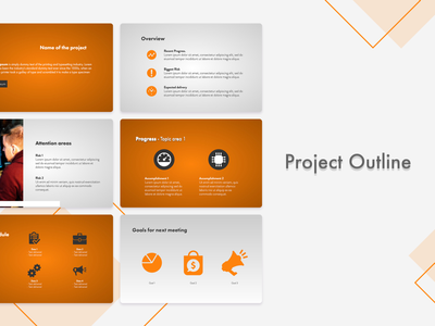 Project Outline Template ppt template ppt slidebean template design pdf template pitch deck template pitchdeck pitch deck design presentation presentation template presentation design