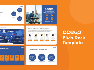 AceUp Pitch Deck Template pitch deck template template pitch deck pitchdeck design slidebean presentation presentation template presentation design
