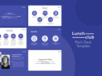 Lunchclub template pitch deck pitch deck design pitchdeck presentation template presentation design
