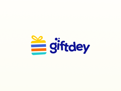 Giftdey Logo children gifts kids icon branding logo
