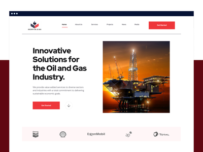 Gecenyi Landing Page UI nigeria oil and gas ux ui landing page
