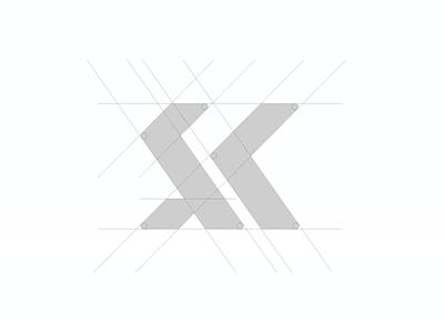 Grid work for the S + K Icon Mark nigeria brand branding typography icon logo