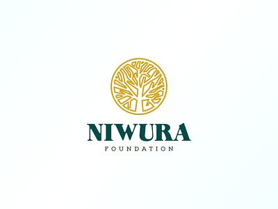 Niwura Foundation Logo foundation brand icon design nigeria logo