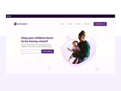 Earlybean Landing Page Preview nigeria ux ui design branding app bank