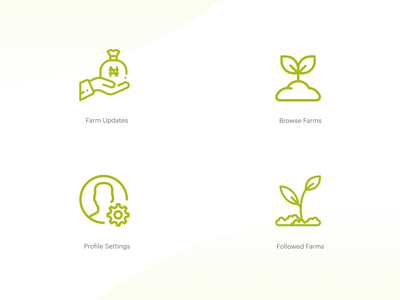 Farmcrowdy App Dashboard Iconography — Vol 1 nigeria ux ui agriculture agritech iconography icon
