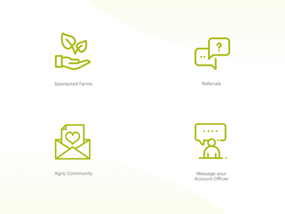 Farmcrowdy App Dashboard Iconography — Vol 2 icon set iconography nigeria ux icon ui