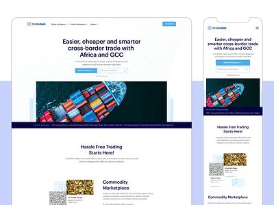 Tradedesk MEA Landing Page trade landing page app web ux ui typography icon design logo
