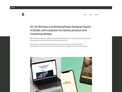 Updated my Design Portfolio with Webflow landing page web design website case study portfolio