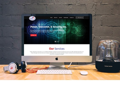 Power  Telecomm    Security  Inc. branding design web