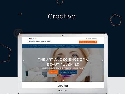 Aesthetic   Implant Dental Arts branding design web