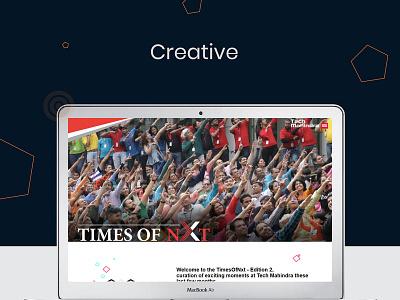 Tech Mahindra Landing Page  Times Of Nxt branding design web