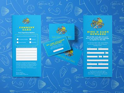 Sea Critter's Brand Collateral Update brand refresh brand update branding tampa tampa bay st. petersburg st. pete fish shack shack restaurant design food menus menu design florida