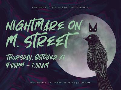 Mbird Halloween Social Ads and Menu