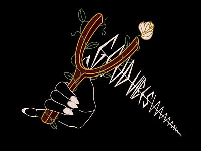 Inktober - sling procreate illustration st pete artist st pete stpetersburg stpete tampa chill emo hang 10 hand sailor floral tattoo inktober2019 inktober slingshot sling vibes good vibes