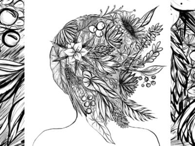 Inktober - Overgrown
